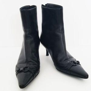 Chanel Kitten-heel Pointed Toe Ankle Booties EU 36